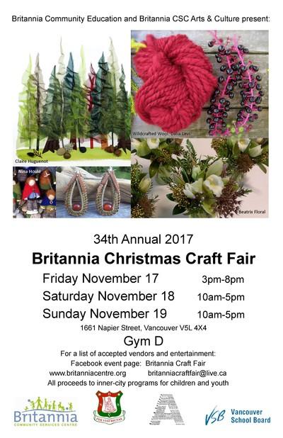 34th Annual Britannia Christmas Craft Fair